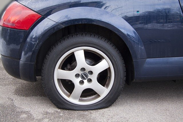 watch out for flat tyres on unused car