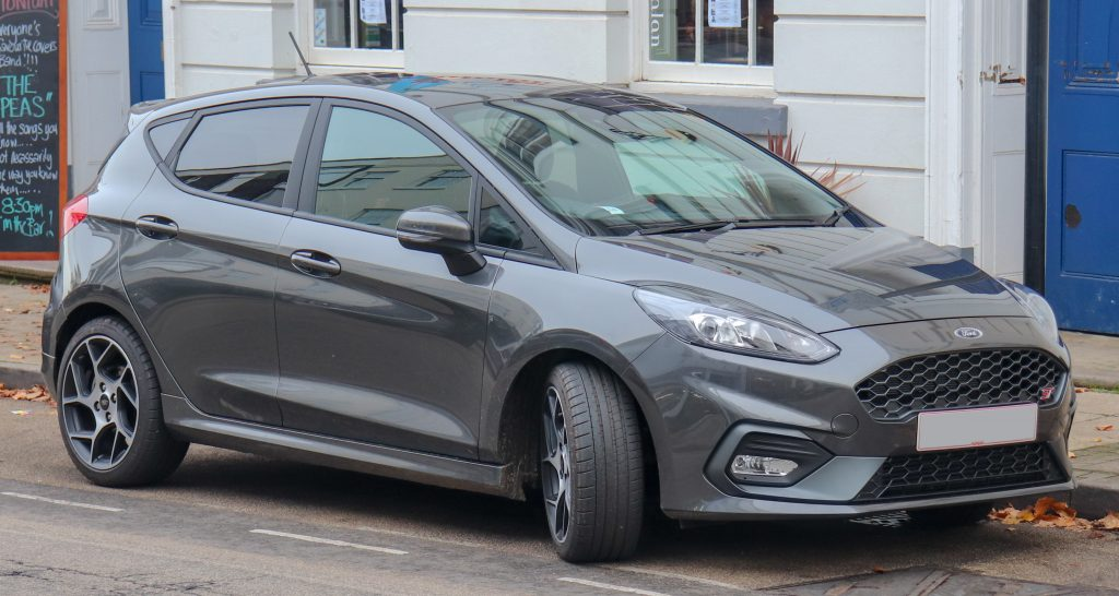 Latest model of the Ford Fiesta ST